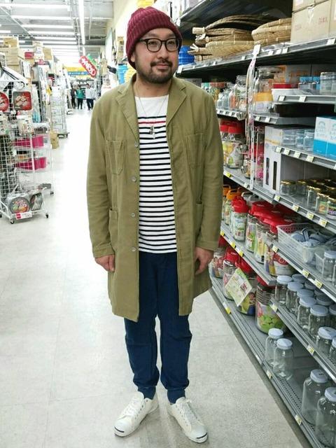 ニット帽・ボーダーTシャツ