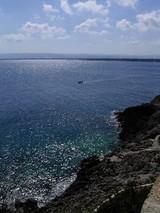 シラクーサのホテル前の海