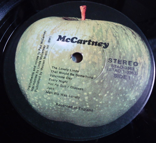 PAUL McCARTNEY/McCartney US STERLING LH/LH RL刻印-3
