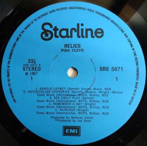 PINK FLOYD/RELICS/Starline/UK ORIGINAL+紙ジャケ-3