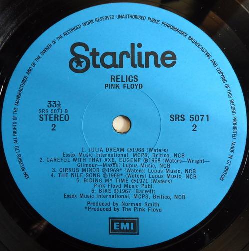 PINK FLOYD/RELICS/Starline/UK ORIGINAL+紙ジャケ-4