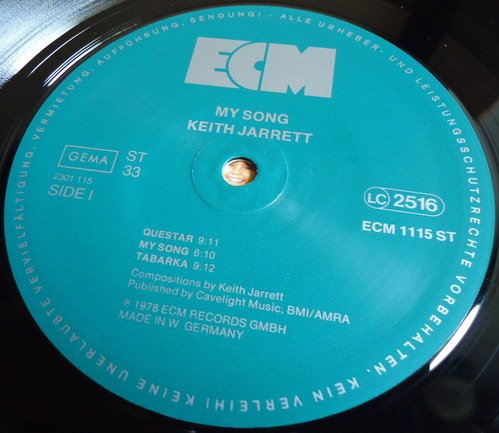 KEITH JARRETT/MY SONG ECM 1115-2