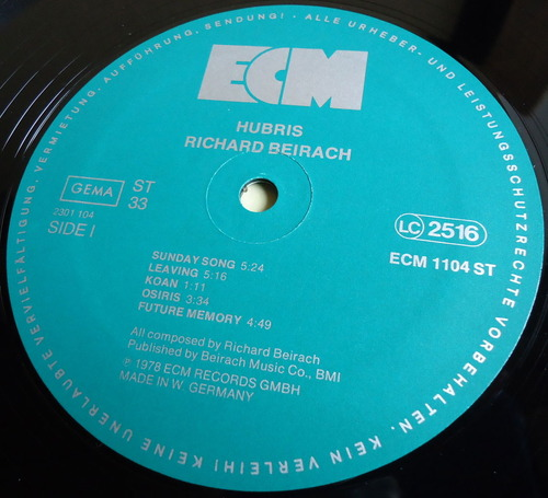 RICHARD BEIRACH/HUBRIS ECM 1104-2