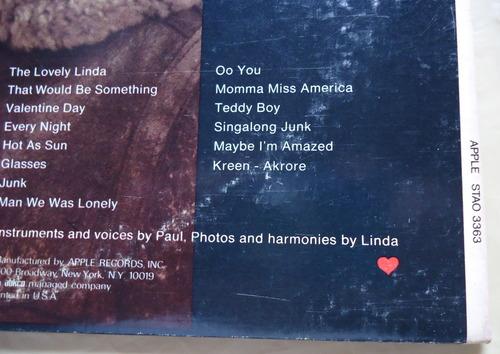 PAUL McCARTNEY/McCartney US STERLING LH/LH RL刻印-2