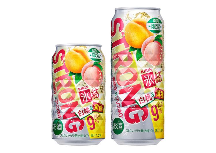 キリンビール、「氷結ストロング」シリーズ初の「白桃&黄桃」を期間限定販売へ