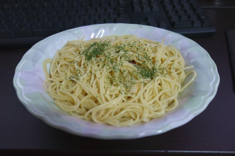【画像有】腹減ったからペペロンチーノ作った