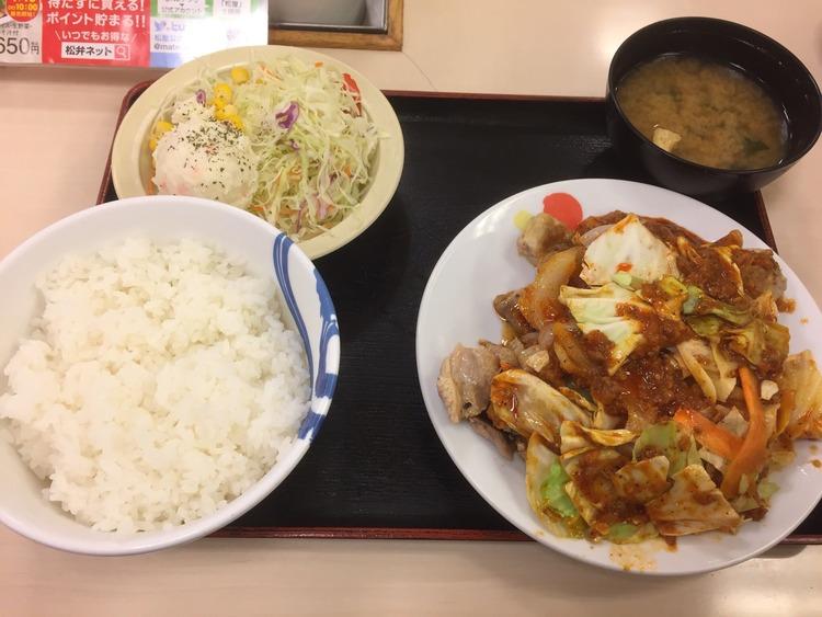 【画像】松屋の新メニュー「ケンジャンチキン定食」ガチで美味すぎる