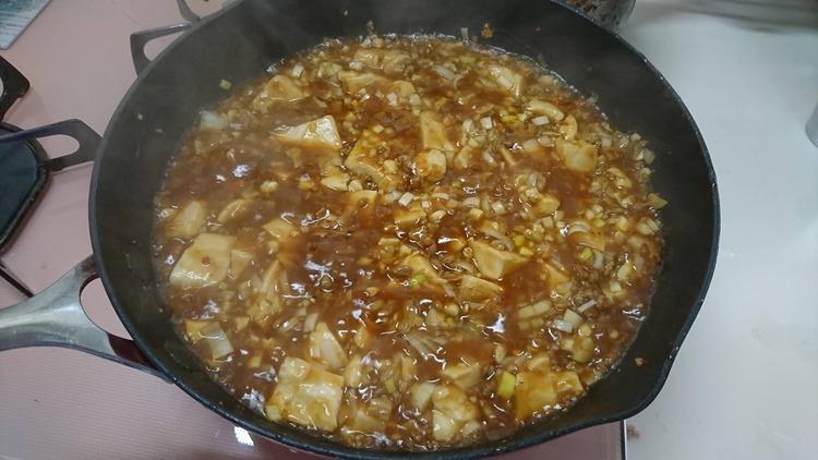 【画像】麻婆豆腐作った
