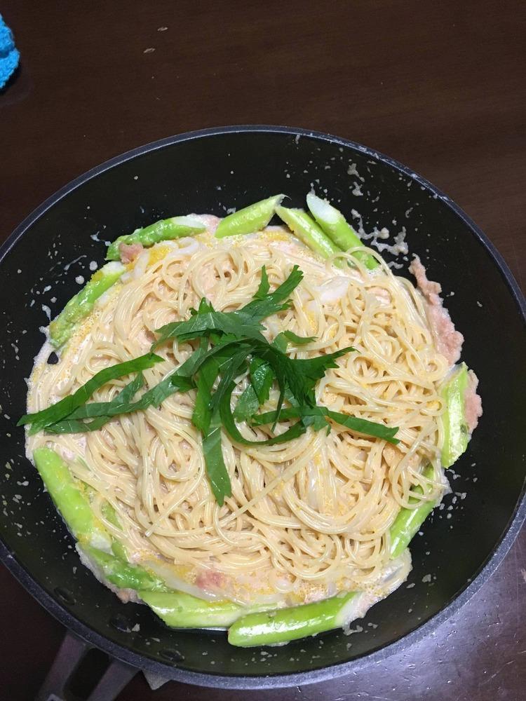 【画像】たらこスパゲッティ作ったンゴ