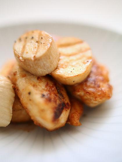 鶏ささみとエリンギのバター醤油炒め