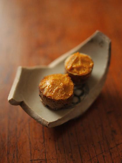 自然薯ソテーとマスタード