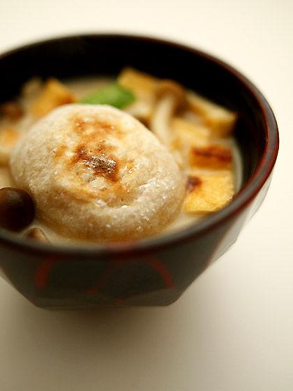 玄米餅のお雑煮2