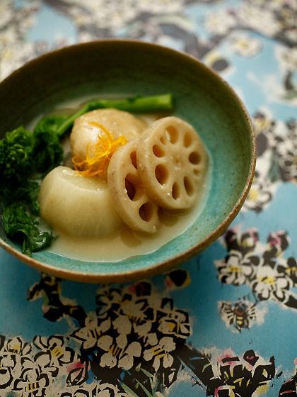 酒粕入り白味噌雑煮:makikoさんの器(トップ)