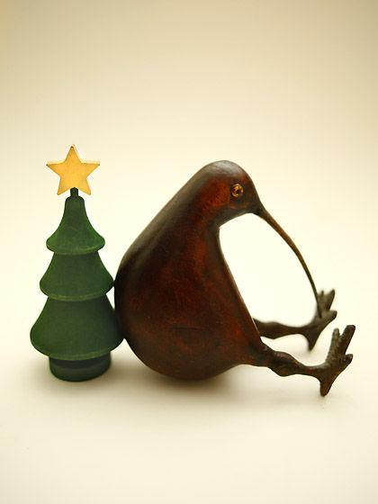 クリスマスツリー&キーウィ