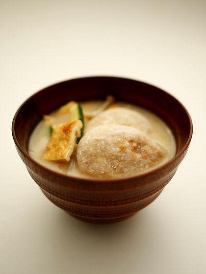 玄米餅のお雑煮1
