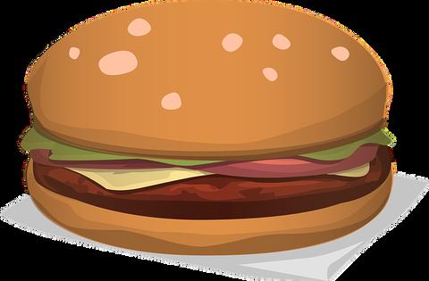 マックのポテトとチーズバーガー食いながら