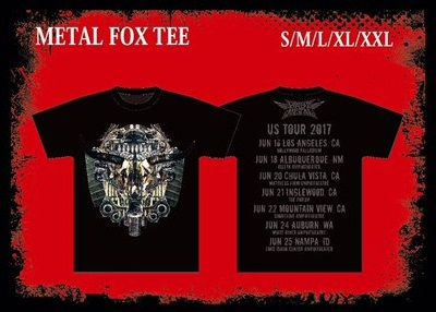 metal fox tee