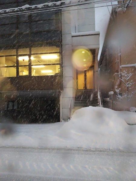 大雪の日に