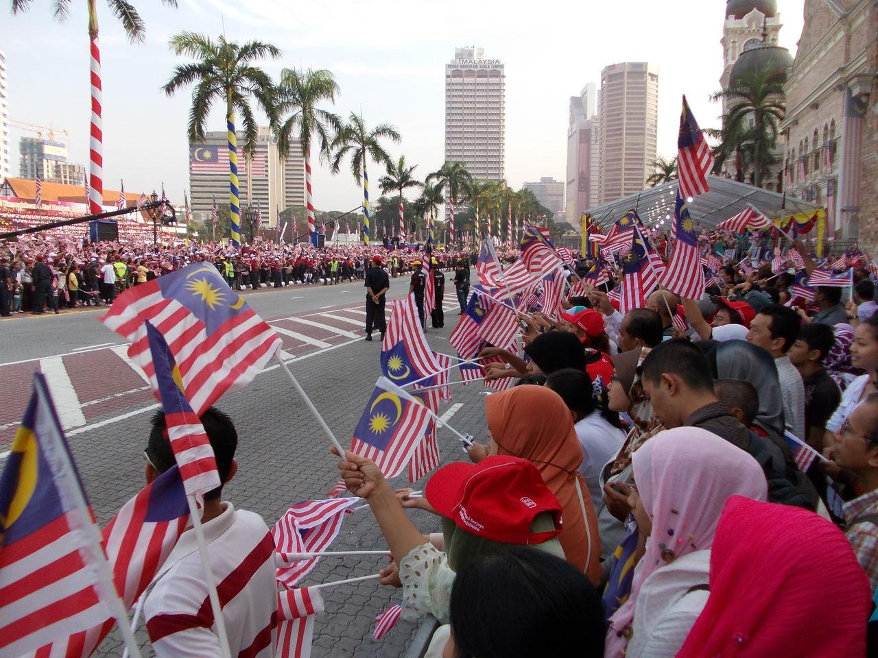 マレーシアデーのパレード街道