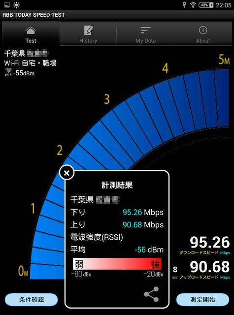 4GHz)無線LAN 自室2Fでの測定