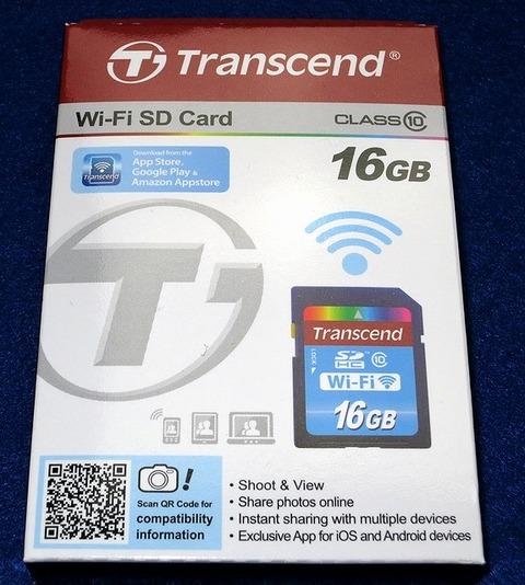 Transcend Wi-Fi SD Card TS16GWSDHC10 パッケージ表