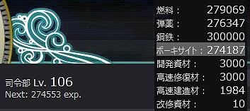 艦これ 2015夏イベント 開始前資源