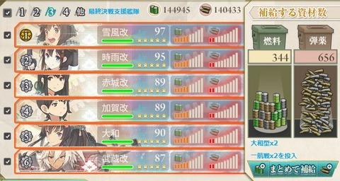 艦これ2014夏イベントE2資源消費データ(Final決戦支援艦隊)