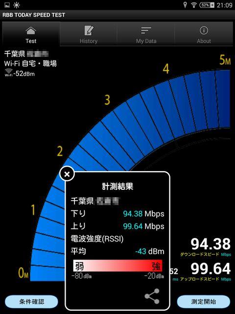 4GHz)無線LAN 1F同室での測定