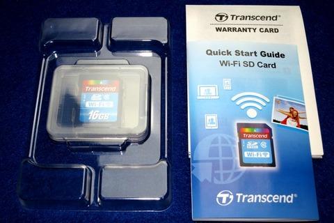 Transcend Wi-Fi SD Card TS16GWSDHC10 同梱品