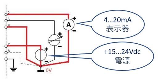 4...20mAの配線について
