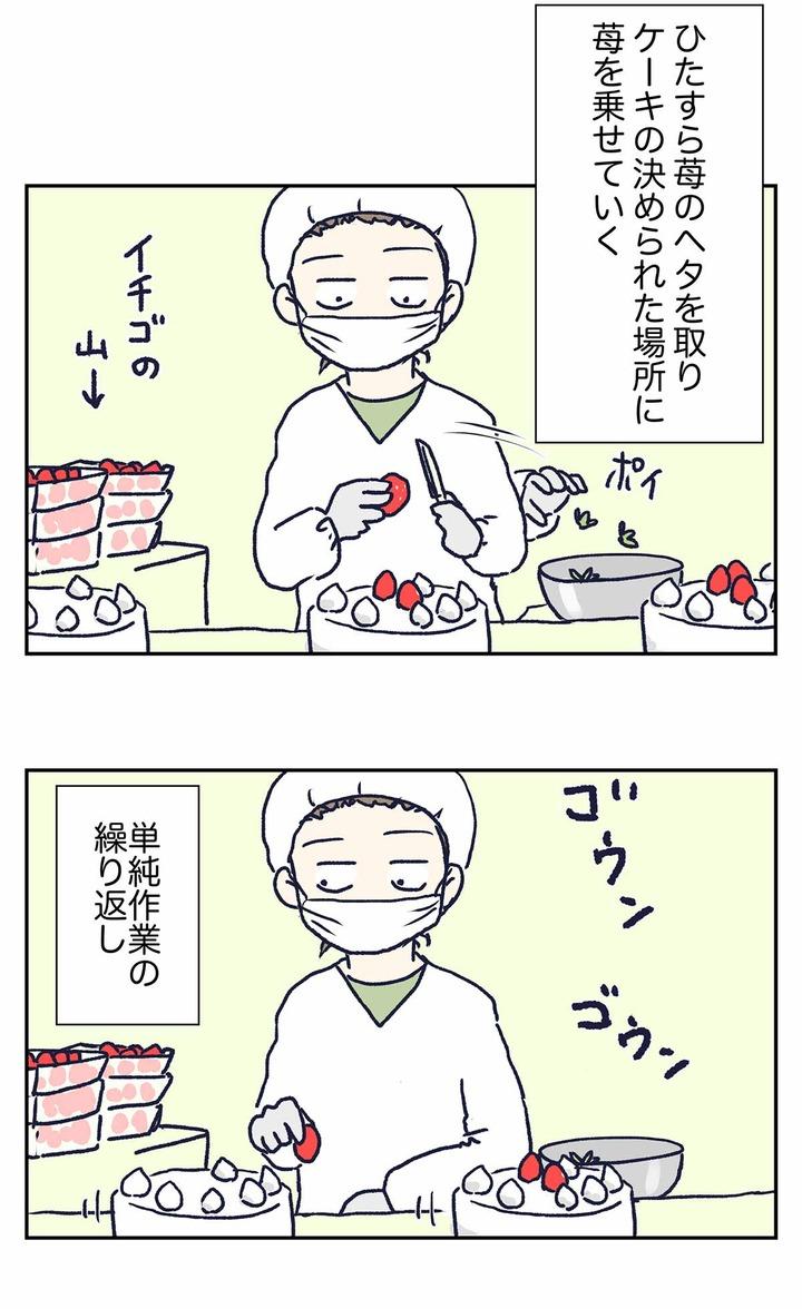 クリスマスケーキ製造バイトの実態をご覧下さい
