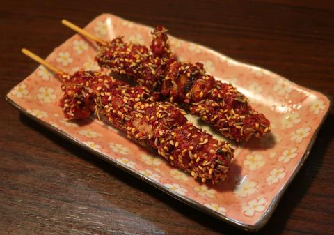 地鶏 串焼き 麻辣味  18.12.31  69