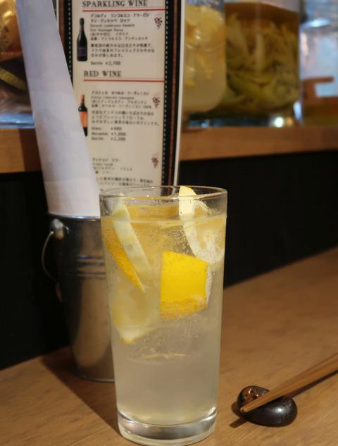 漬け込み柚子 白レモンサワー  19.1.14   1029