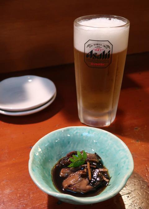 ビールと、牡蠣の山椒煮 19.4.6   64