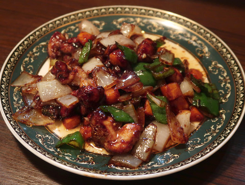 鶏肉と野菜の甜麺醤炒め  18.12.31  61