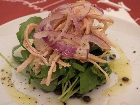 「豚のツナとレンズ豆のサラダ」