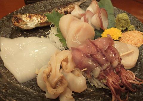 おまかせ海鮮の炙り(焼く前)