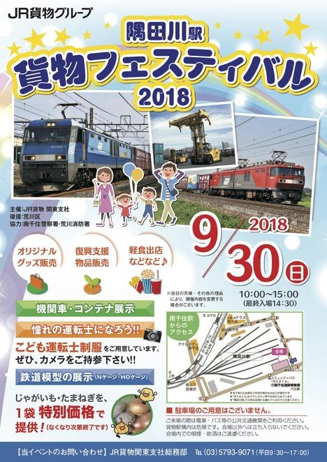 隅田川駅貨物フェスティバル2018