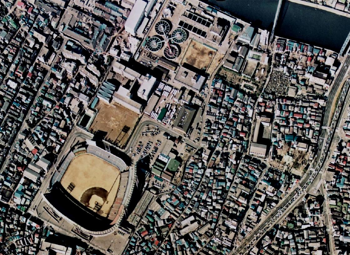 1974東京スタジアム (「国土画像情報(カラー空中写真)国土交通省」1974年) (「国土画.