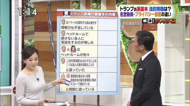 江藤愛アナ むちむちニット乳!!