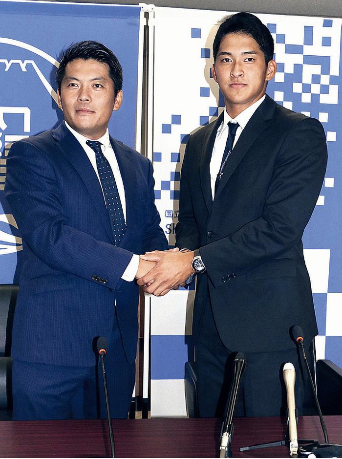 【阪神】育成2位・奥山、目標は糸井「一日でも早く甲子園で活躍できるように頑張りたい」