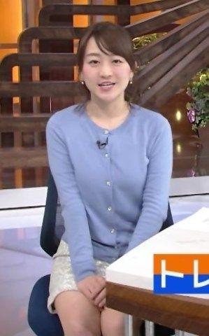【画像】片淵茜という子りすみたいな顔でおっぱいと脚がエロい女子アナ