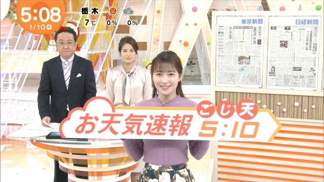 【画像】阿部華也子お天気キャスターが巨乳でエッチ過ぎて
