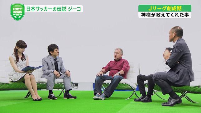 皆藤愛子アナがソファーに浅く座りすぎて、お尻の方まで太股が見えそう!!