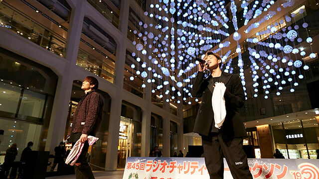 注目ユニットD.Y.T 聖夜の東京・丸の内でOLの心をワシ掴みに