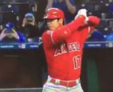【動画】 大谷翔平、第1打席でメジャー初の二塁打! 7戦連続安打に球場興奮