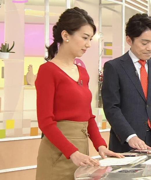 和久田麻由子アナ 薄手のニットのおっぱいがエロ過ぎ