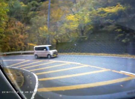 スピード出しすぎ!武平峠で横転事故を起こしてしまったスマートK乗りの車載映像。