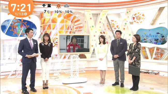 【画像】岡副麻希ちゃんの仰向けおっぱい!佐野アナがチラ見、イってて草