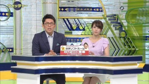 鷲見玲奈 Sportsウォッチャー ミニスカ